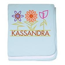 Kassandra with cute flowers baby blanket