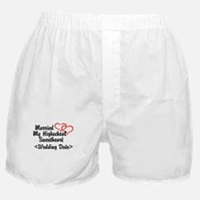 Cute Just married 2014 Boxer Shorts