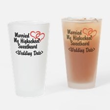 Cute Just married 2012 Drinking Glass