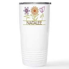 Natalee with cute flowers Travel Mug