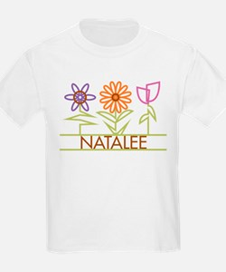 Natalee with cute flowers T-Shirt