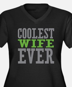 Coolest Wife Women's Plus Size V-Neck Dark T-Shirt