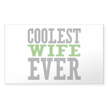 Coolest Wife Sticker (Rectangle)
