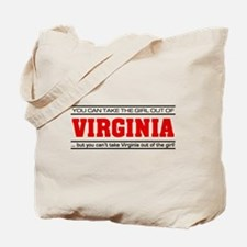 'Girl From Virginia' Tote Bag