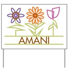 Amani with cute flowers Yard Sign