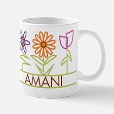 Amani with cute flowers Mug