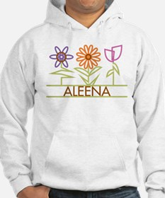 Aleena with cute flowers Hoodie Sweatshirt