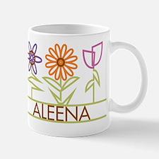 Aleena with cute flowers Mug