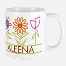 Aleena with cute flowers Small Small Mug