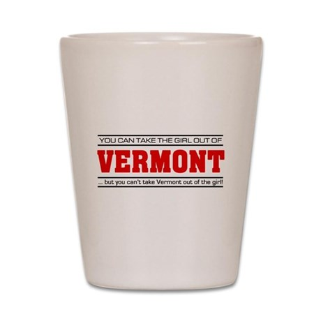 'Girl From Vermont' Shot Glass