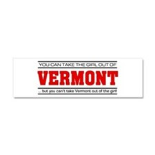 'Girl From Vermont' Car Magnet 10 x 3