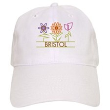 Bristol with cute flowers Baseball Cap