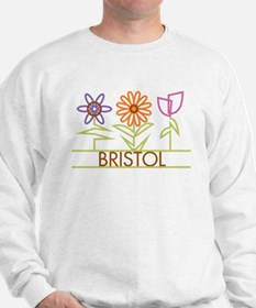 Bristol with cute flowers Sweatshirt
