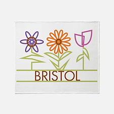 Bristol with cute flowers Throw Blanket