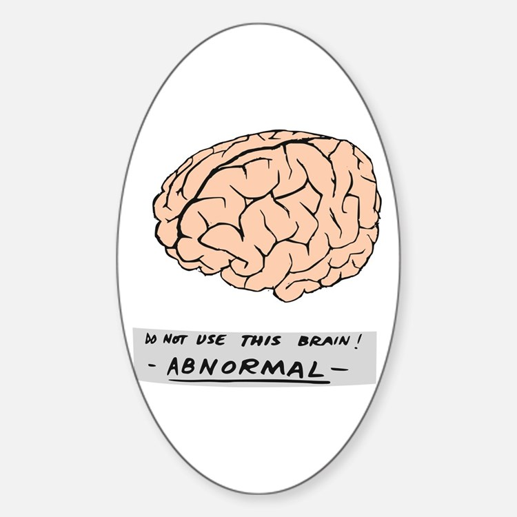 Abby Normal - Sticker (Oval)