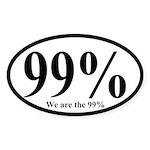 99%: We are the 99% Oval Bumper Sticker