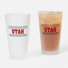 'Girl From Utah' Drinking Glass