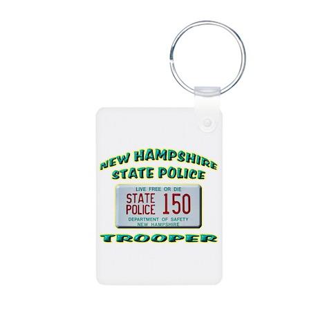 New Hampshire State Police Aluminum Photo Keychain