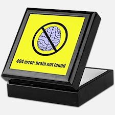 Brain Not Found Keepsake Box