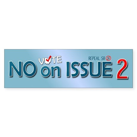 Vote NO Issue 2 Bumper Sticker