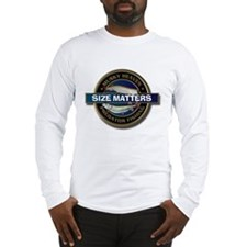 Long Sleeve Size Matters Muskie Fishing T-Shirt