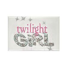 Twilight Girl Pink Rectangle Magnet