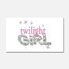 Twilight Girl Pink Car Magnet 20 x 12