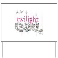 Twilight Girl Pink Yard Sign