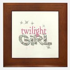 Twilight Girl Pink Framed Tile