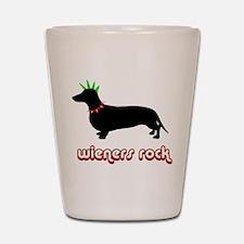 Wieners rock! Shot Glass