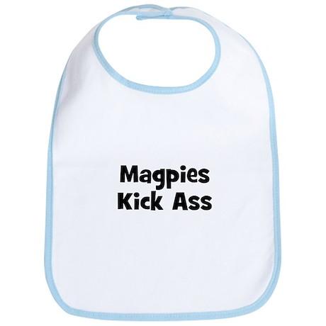 Magpies Kick Ass Bib