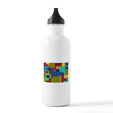 Dachshund Mosaic Water Bottle