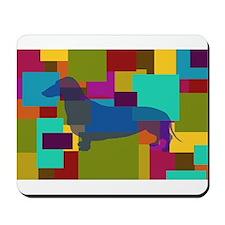 Dachshund Mosaic Mousepad