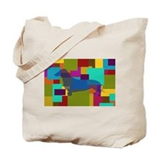 Dachshund Mosaic Tote Bag