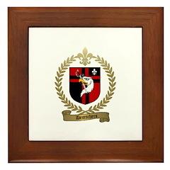 DESROCHERS Family Crest Framed Tile