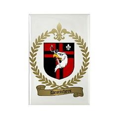 DESROCHERS Family Crest Rectangle Magnet (100 pack