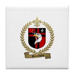 DESROCHERS Family Crest Tile Coaster