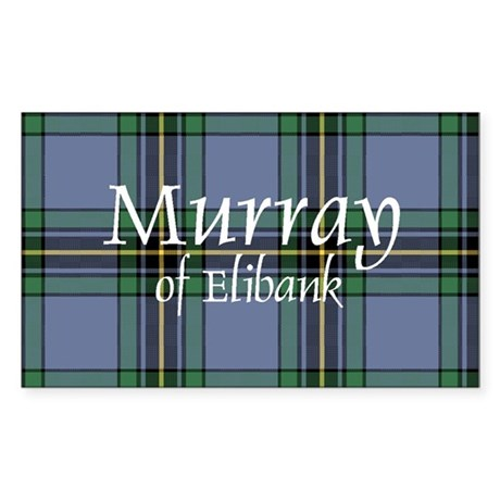 Tartan - Murray of Elibank Sticker (Rectangle 10 p