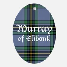 Tartan - Murray of Elibank Ornament (Oval)