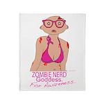 Zombie Nerd Goddess For Awareness. Throw Blanket