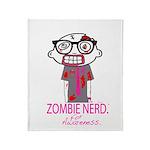 Zombie Nerd. For Awareness. Throw Blanket