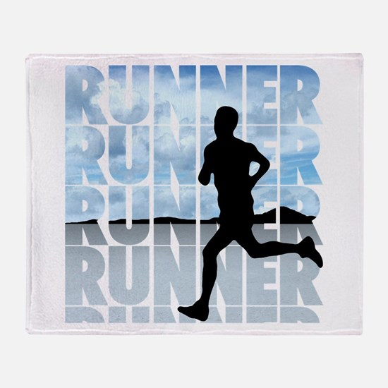 Cute Runner Throw Blanket