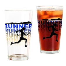 Cute Trail run Drinking Glass
