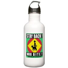STAY BACK - WILL BITE! Sports Water Bottle
