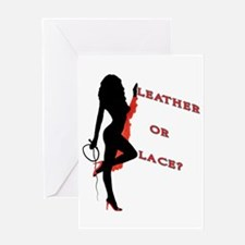 Leather or Lace? Greeting Card