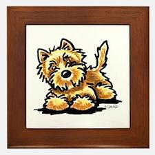 Wheaten Cairn Terrier Framed Tile