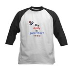 MY DADDY IS PERRRFECT Kids Baseball Jersey