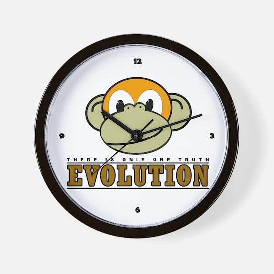 Evolution the Monkey Wall Clock
