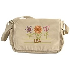 Lea with cute flowers Messenger Bag