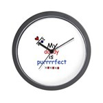 MY DADDY IS PERRRFECT Wall Clock